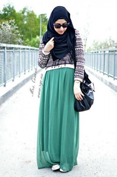 green dresses for hijabers 1948125_432985460179